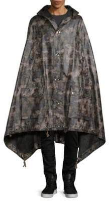 Valentino Printed Hooded Cape