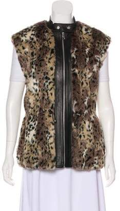 Rebecca Taylor Animal Print Faux Fur Vest w/ Tags