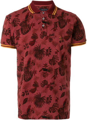 Jeckerson jungle print polo shirt