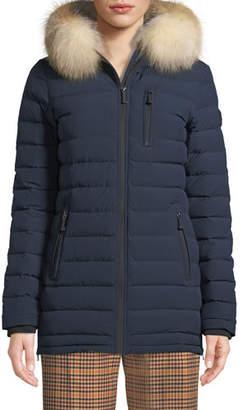 Moose Knuckles Roselawn Puffer Jacket w/ Fur Hood