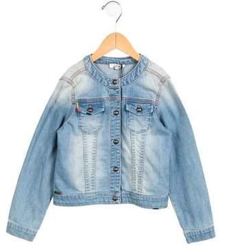 Junior Gaultier Girls' Embroidered Denim Jacket w/ Tags