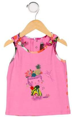 Catimini Girls' Embroidered Graphic Top