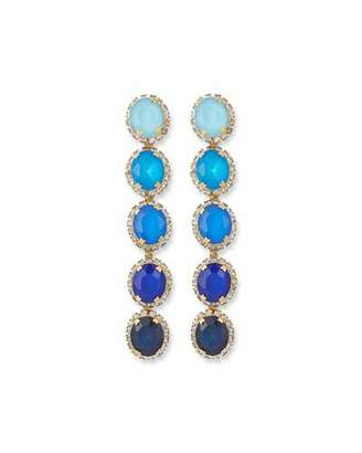 Elizabeth Cole Von Ombre Drop Earrings, Blue