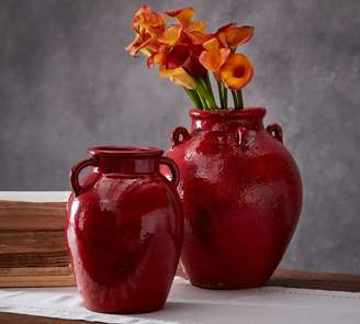 Pottery Barn Red Vase Collection