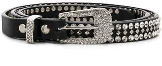 Veronica Beard crystal Western belt