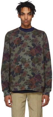 Etro Green Floral Crewneck Sweatshirt