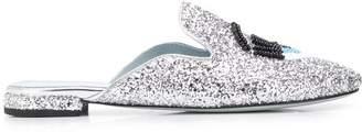Chiara Ferragni glitter wink loafers