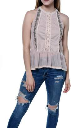 Bishop + Young Daniela Embroidered Sleeveless Blouse