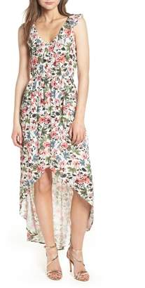 Speechless Ruffle High/Low Maxi Dress
