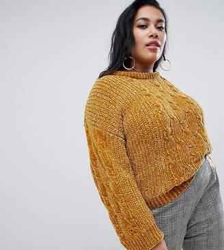 Brave Soul Plus indo sweater in chenille