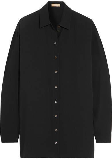Michael Kors Collection - Oversized Silk-georgette Shirt - Black