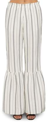 Willow & Clay Stripe Ruffle Flare Pants