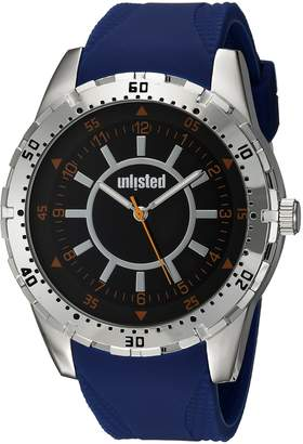 UNLISTED WATCHES Men's 'Sport' Quartz Metal and Silicone Casual, Color:Blue (Model: 10030906)