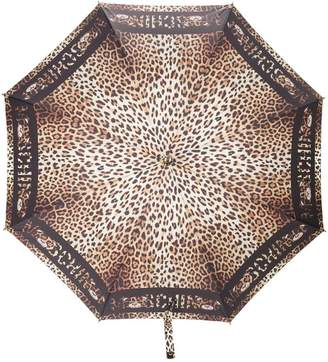 Moschino leopard print umbrella