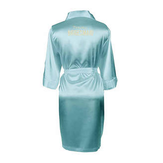 Cathy's Concepts CATHYS CONCEPTS Personalized Solid Satin Womens Satin Kimono Robes