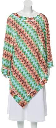 Missoni Mare Patterned Knit Poncho