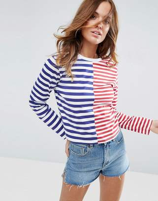 ASOS T-Shirt in Boxy Fit and Cut About Stripe $28 thestylecure.com