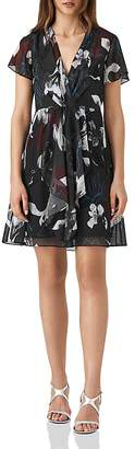 Reiss Kate Floral Mini Dress