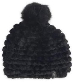 Calvin Klein Faux Fur Contrast Pom-Pom Beanie