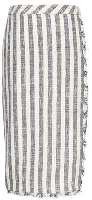 Banana Republic Petite Stripe Tweed Pencil Skirt
