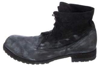 Officine Creative Distressed Leather Ankle Boots