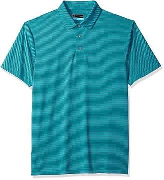 PGA TOUR Men's Short Sleeve Yarndye Feeder Striped Shirt Polo