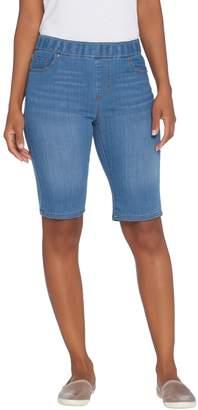 Kelly By Clinton Kelly Kelly by Clinton Kelly Pull-On Denim Bermuda Shorts