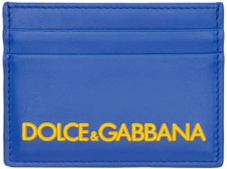 Dolce & Gabbana Blue Logo Card Holder