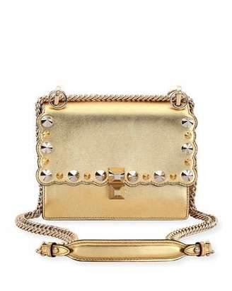 Fendi Kan I Mini Metallic Studded Chain Shoulder Strap, Gold