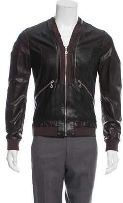 Dolce & Gabbana Shawl Collar Leather Jacket brown Shawl Collar Leather Jacket