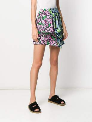 Christian Wijnants floral patchwork skirt
