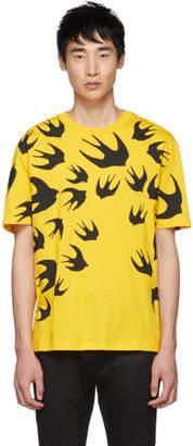 McQ Yellow Swallows T-Shirt