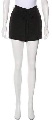 Rebecca Minkoff Mid-Rise Silk Shorts