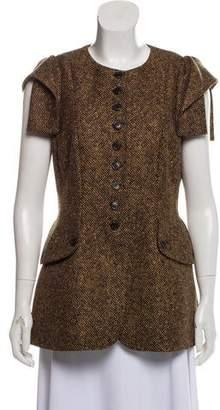Michael Kors Virgin Wool Patterned Blazer