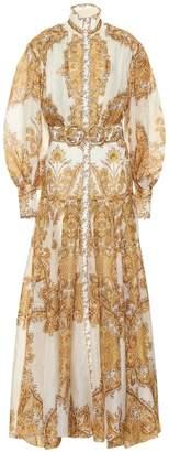 Zimmermann Zippy paisley linen and silk dress