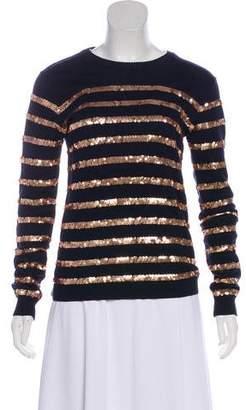 Barneys New York Barney's New York Embellished Long Sleeve Sweater