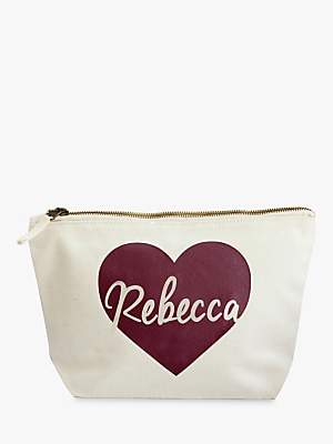 Jonny's Sister Personalised Heart Makeup Bag, Large
