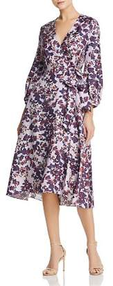 Whistles Floral Silk Wrap Dress - 100% Exclusive