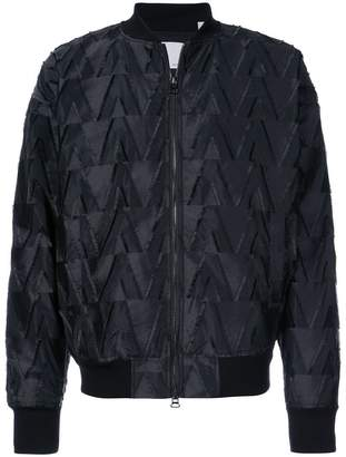 Private Stock textured pattern bomber jacket