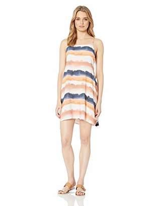 Lucky Brand Women's Side Tie Cover Up Slip Dress,M