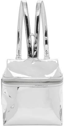 Kara Silver Small Mirror Backpack