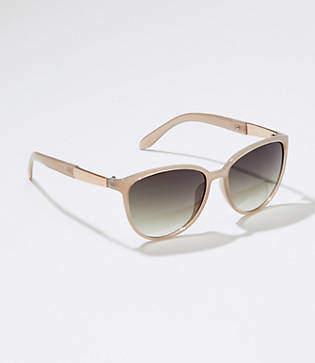 LOFT Iridescent Bar Cateye Sunglasses