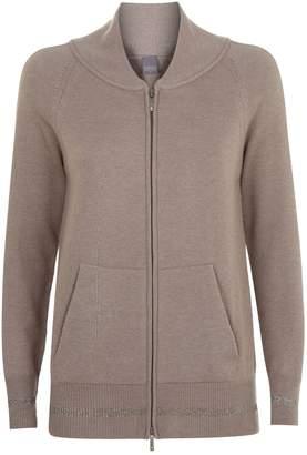 Lorena Antoniazzi Knit Zip Lurex Jacket