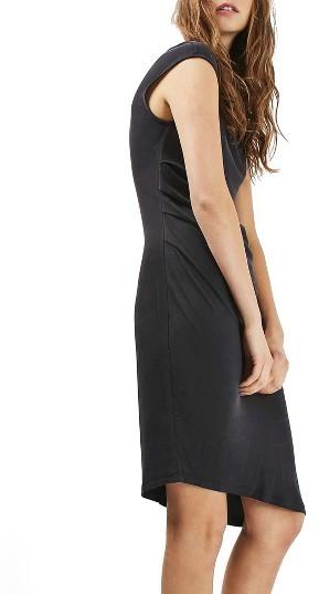 TopshopWomen's Topshop Asymmetric Slinky Drape Midi Dress