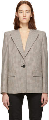 Givenchy Brown and Beige Prince of Wales Blazer