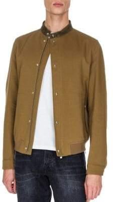 The Kooples Wool-Blend Bomber Jacket