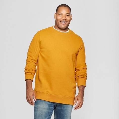 Goodfellow & Co Men's Big & Tall Long Sleeve Crew Neck Fleece Sweatshirt