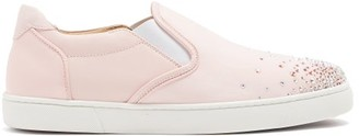 Christian Louboutin Masteralta Degra Slip On Trainers - Womens - Pink Multi