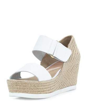 Andre Assous Gretta Leather Espadrille Wedge Sandal, White/Natural $229 thestylecure.com
