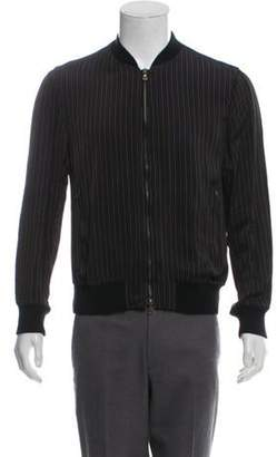 Dries Van Noten Striped Bomber Jacket w/ Tags black Striped Bomber Jacket w/ Tags